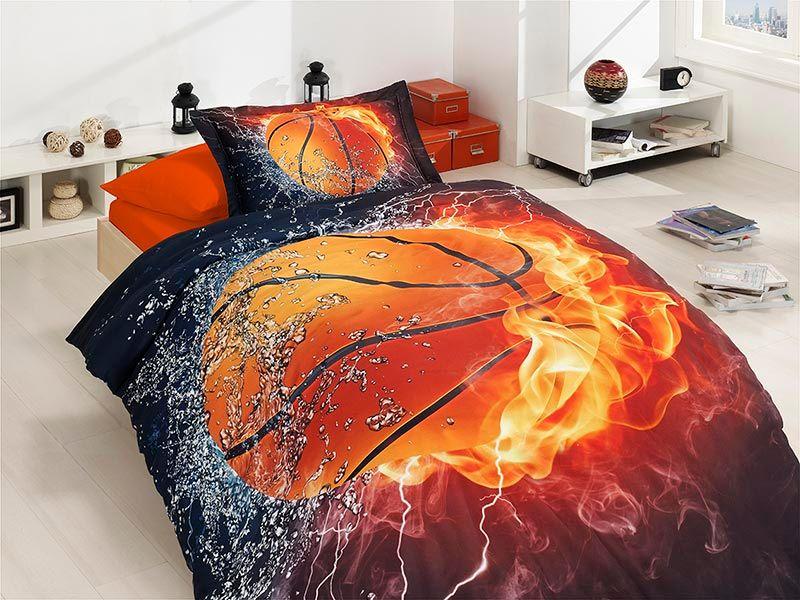 91eb0133e5bb Постельное белье подростковое 3D сатин First Choice - Basketball